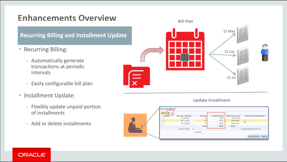 Cloud R12 – AR – Recurring Billing and Installment Update   Oracle